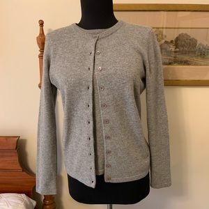 MAG Cashmere Twinset sweater Cardigan S L Gray set
